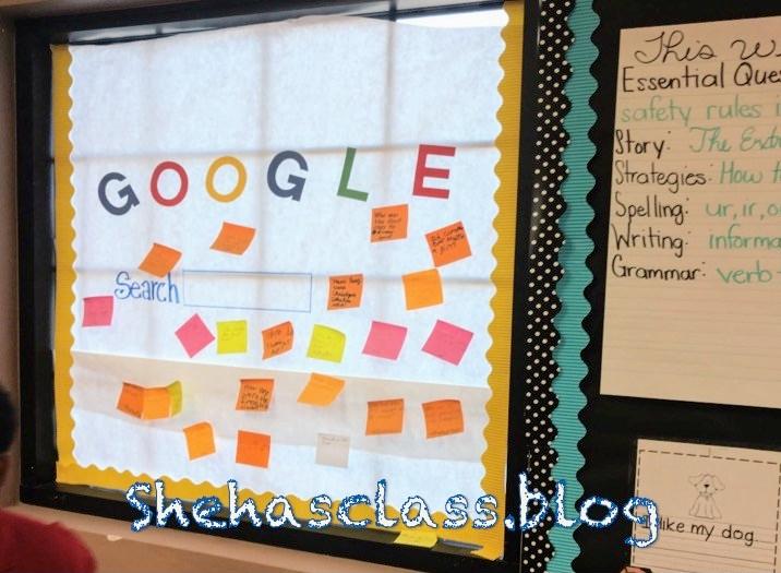 Google board, kid's questions